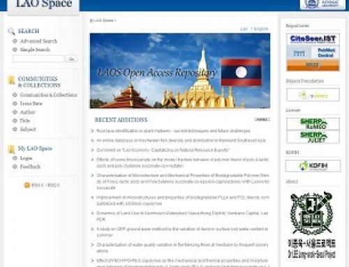 라오스 의학분야 리포지터리 LAO Space 구축